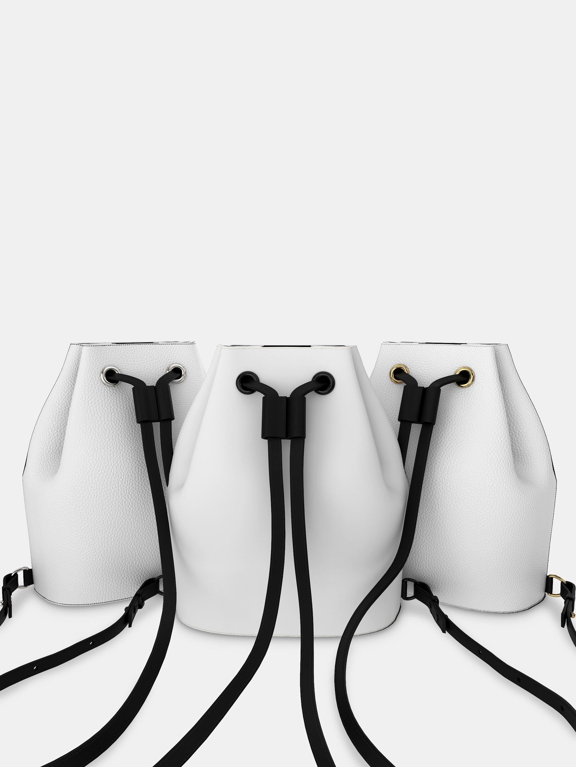 Custom Drawstring Backpack white