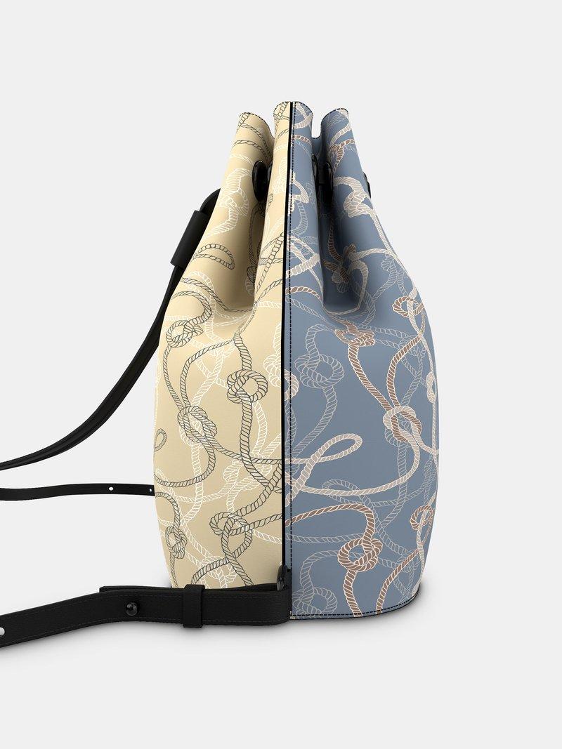 leder-rucksack mit kordelzug selbst gestalten