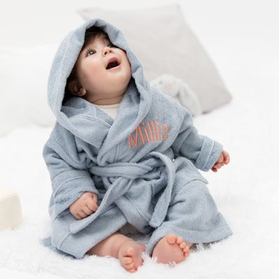 gepersonaliseerde bamboe baby badjas