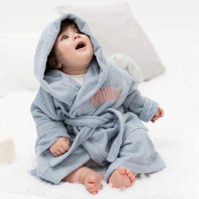 personalised baby bathrobe