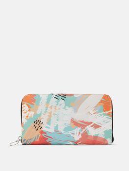 leather zip purse