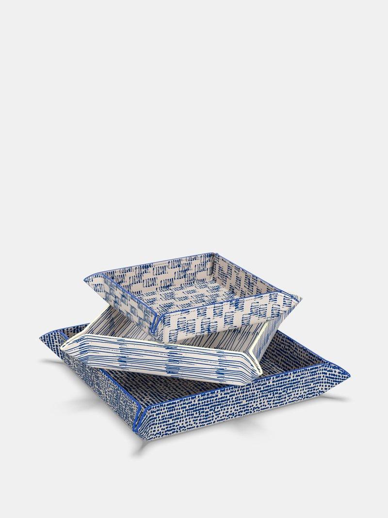 Vide-poches en cuir customisé