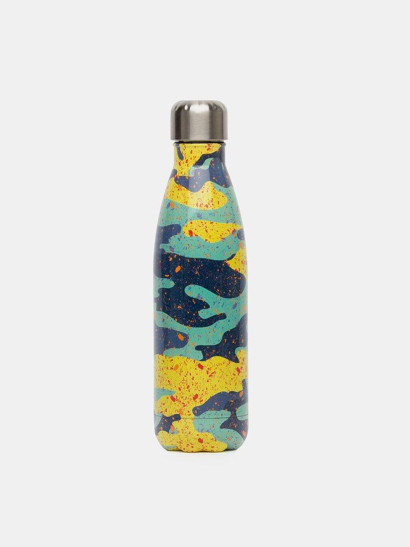 Détails d'impression de la bouteille isotherme avec design