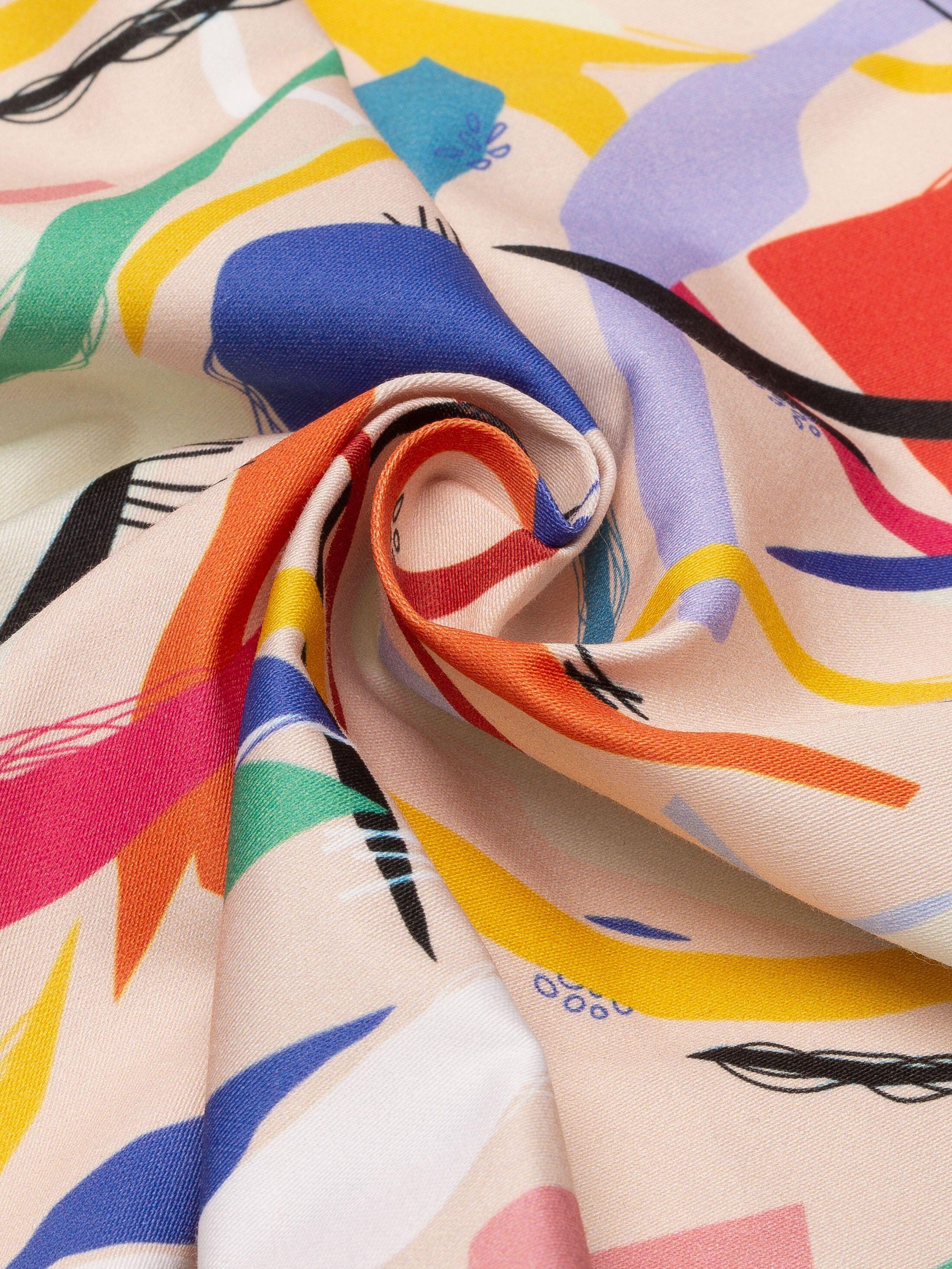 print Cotton Satin fabric swatch