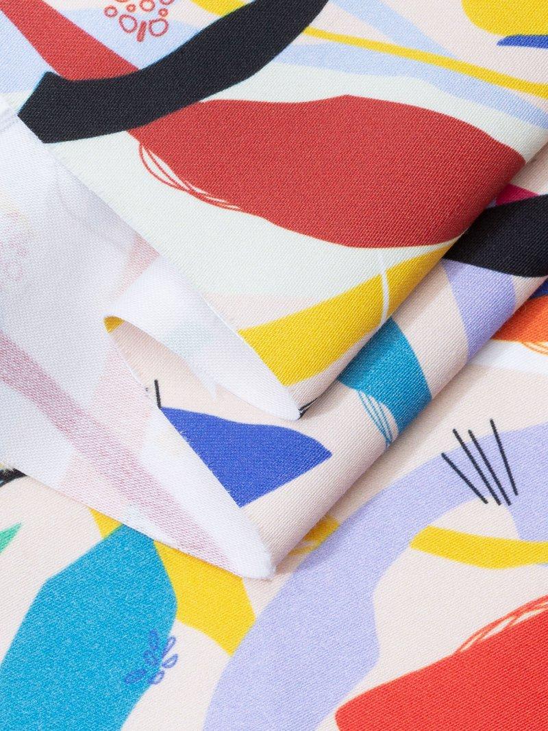 digital printing on Cotton Satin fabric