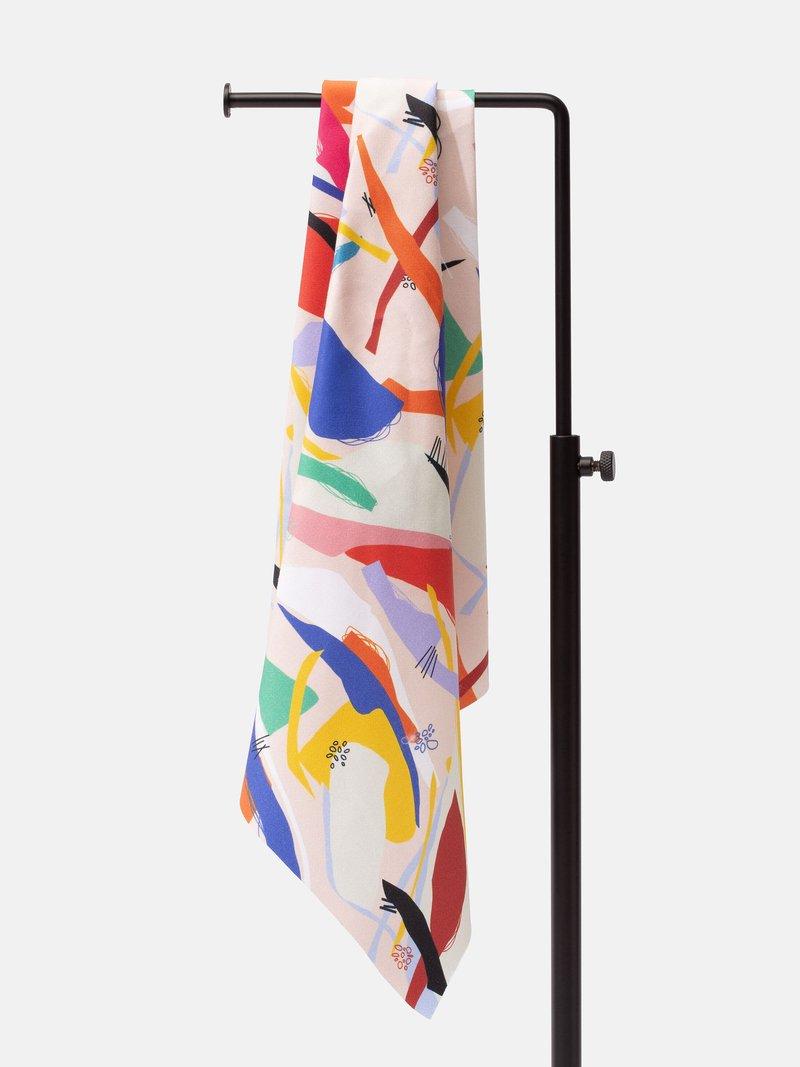 Cotton Satin digital print fabric natural
