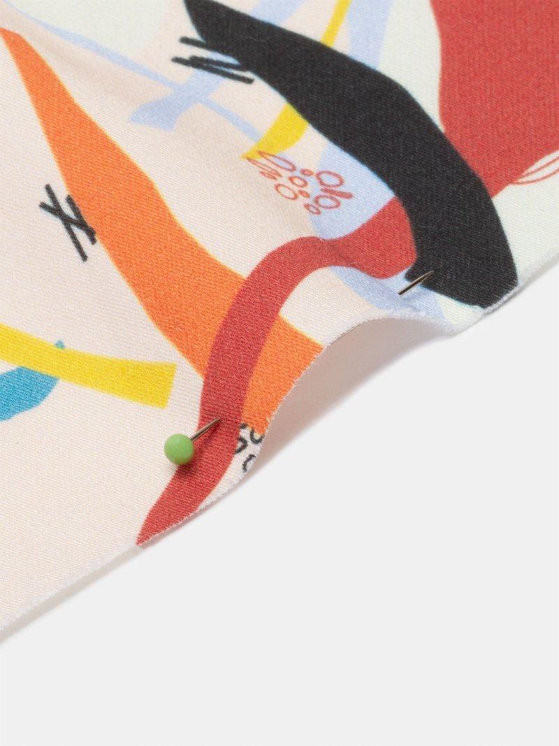Katoensatijn digitale print natuurlijke stof