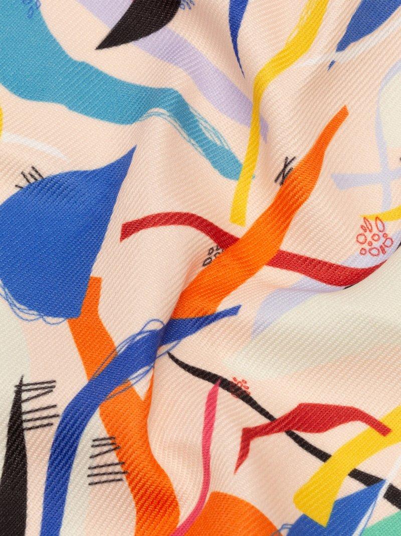 Sarga de algodón sintético impresa a medida