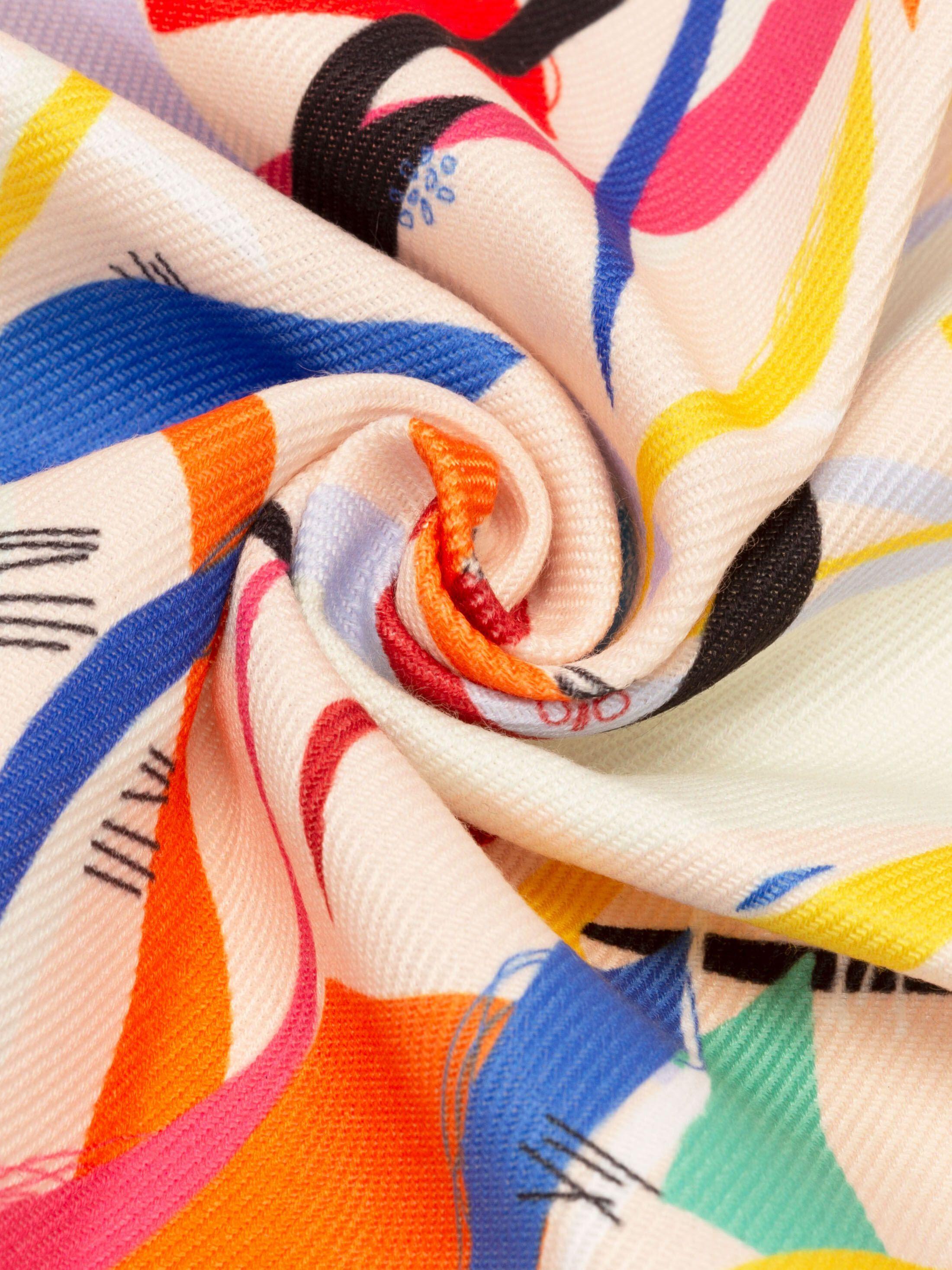 Impresión en sarga de algodón sintético