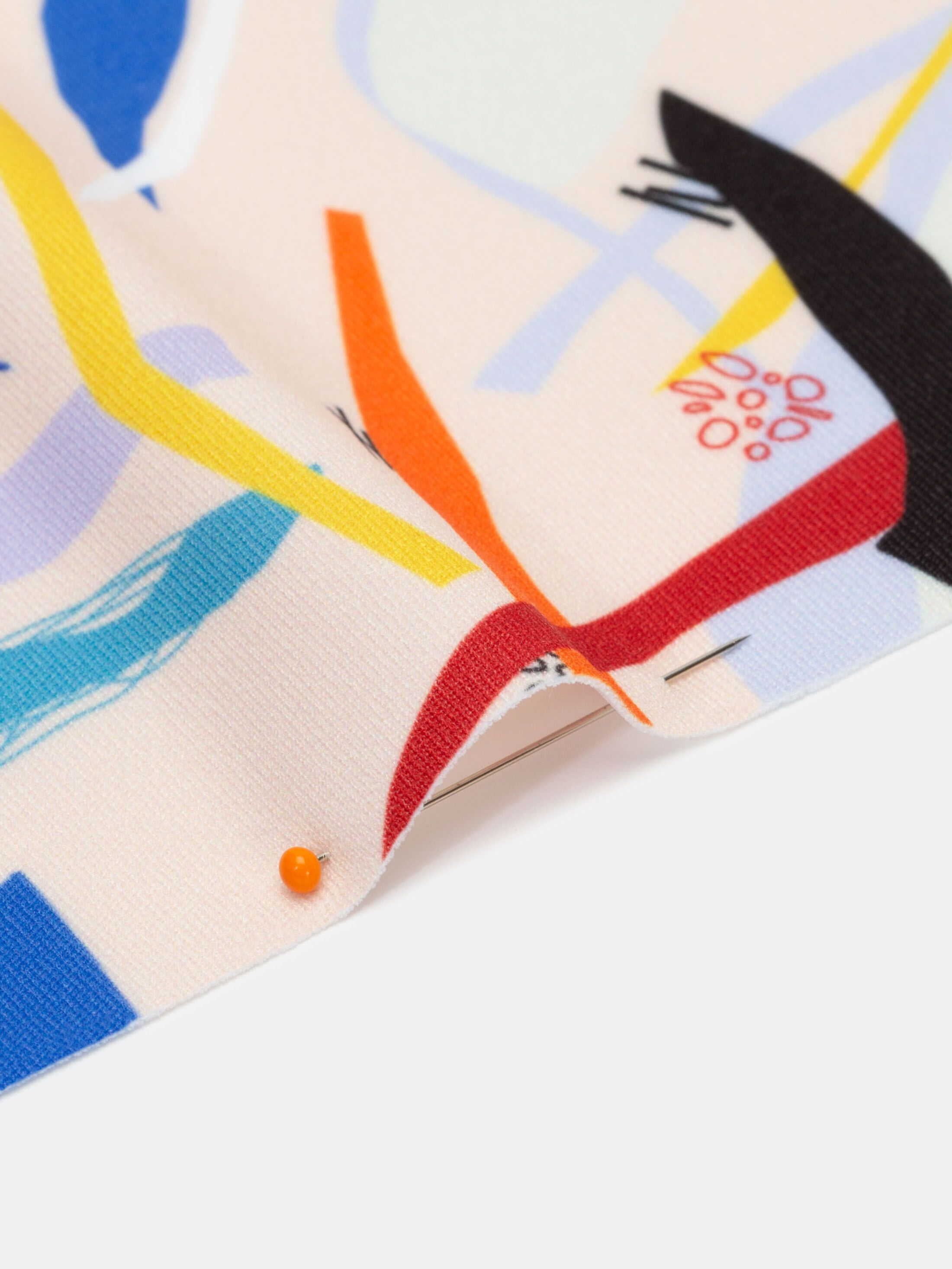 Printing on custom heavy matte lycra fabric