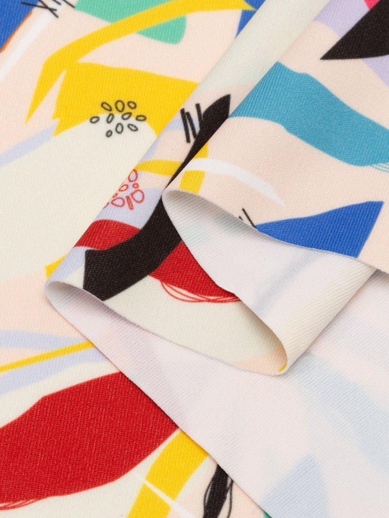 printed lycra fabric UK test print edge details