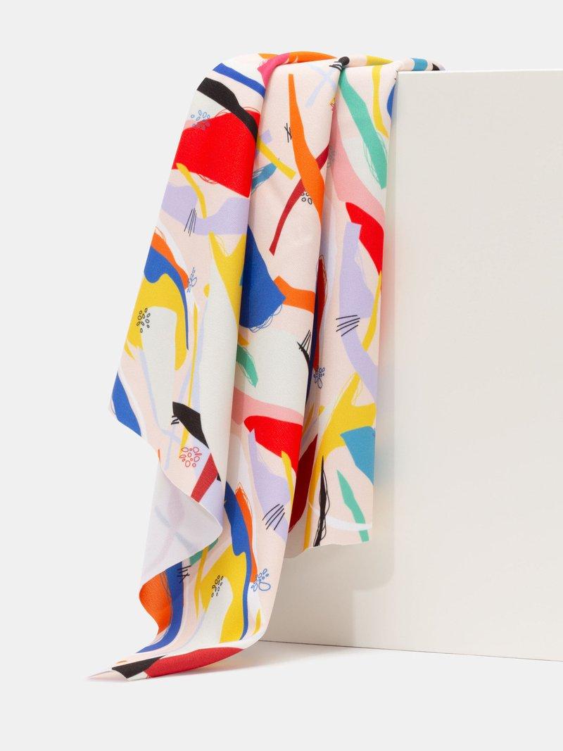 Heavy Matt Lycra Fabric Printing draped pleats