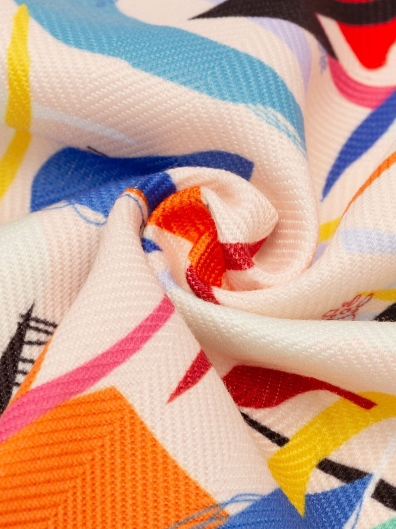 Designa eget Mayfair textil med fiskbensmönster
