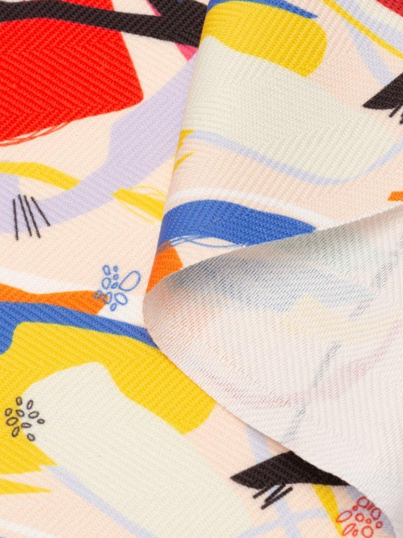 Impresión textil en tela espiguilla