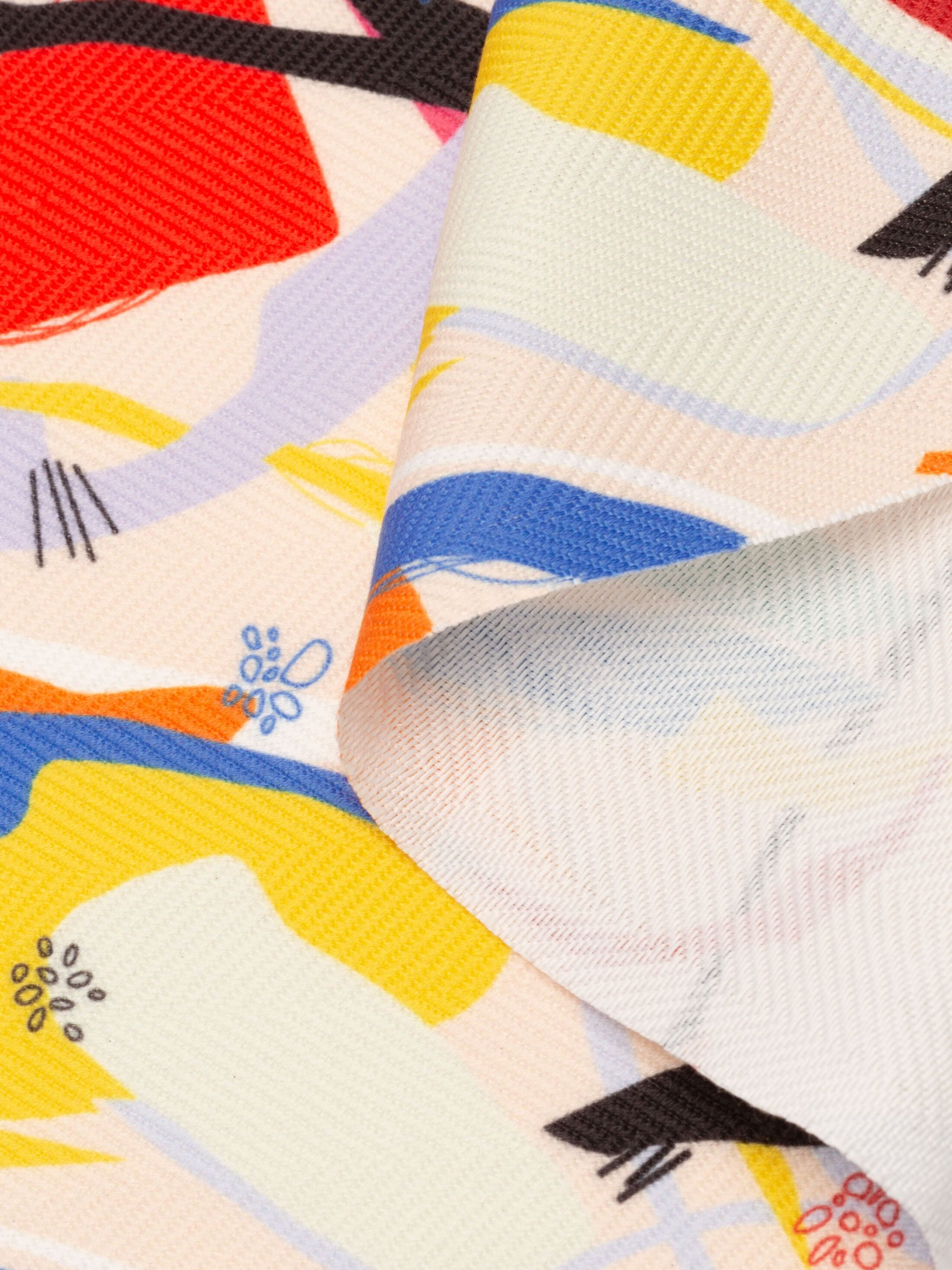 print on Herringbone fabric UK