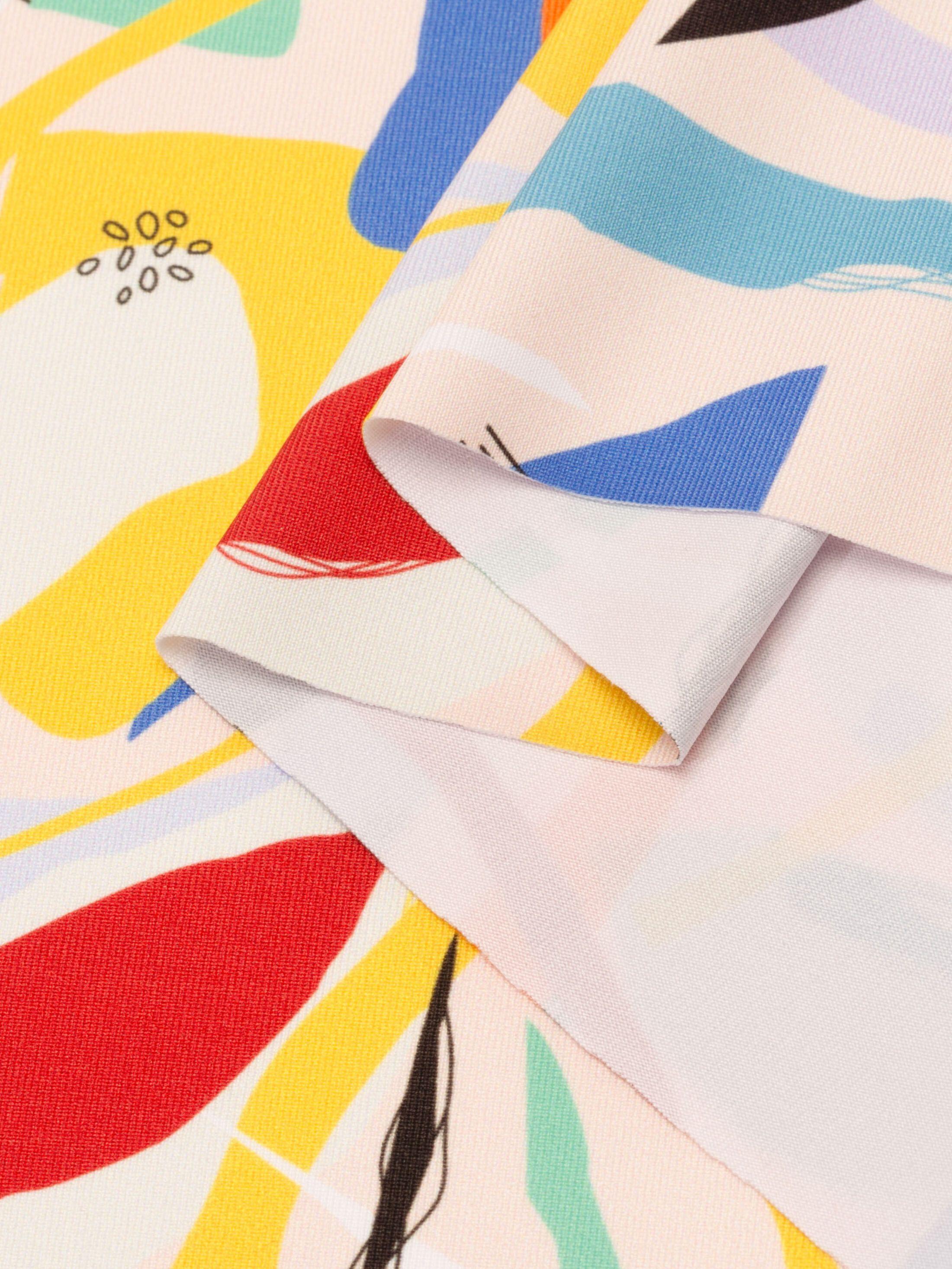 printing Heavy Matt Lycra fabric test print