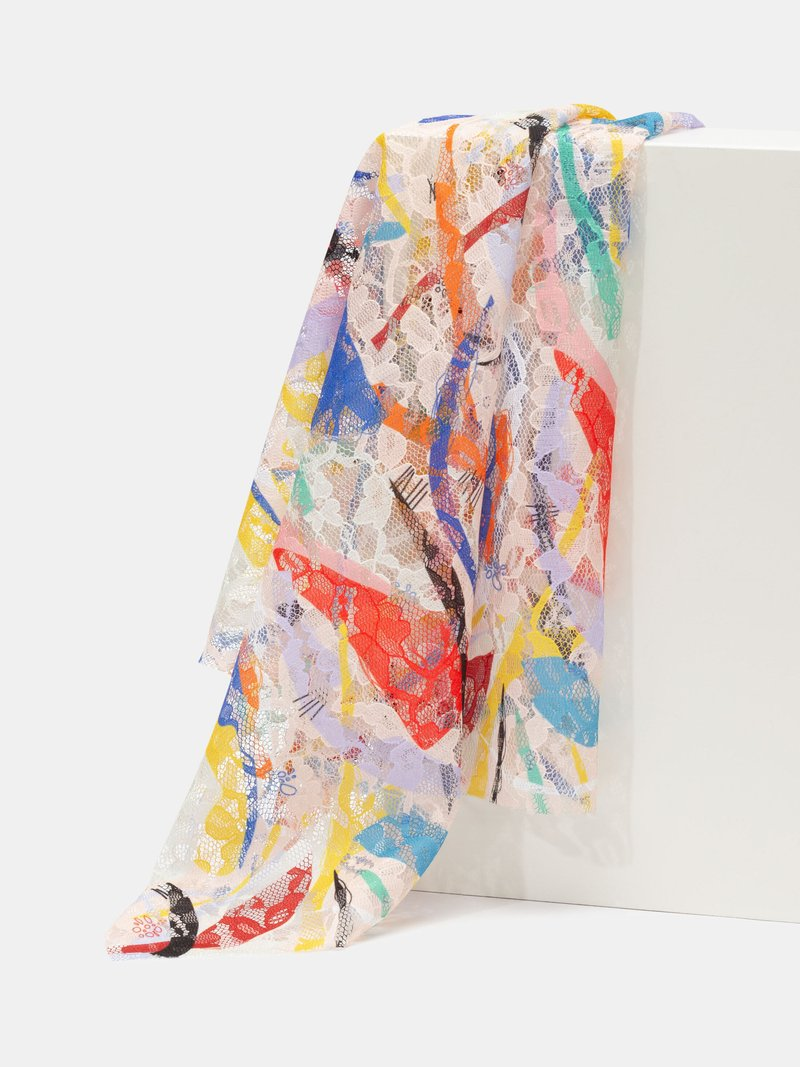 Impresión en tela de encaje blossom