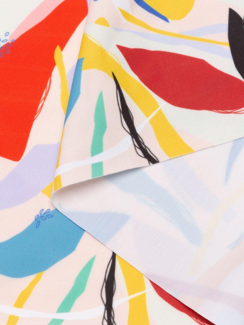 digital printing Matt Lycra medium weight fabric folded