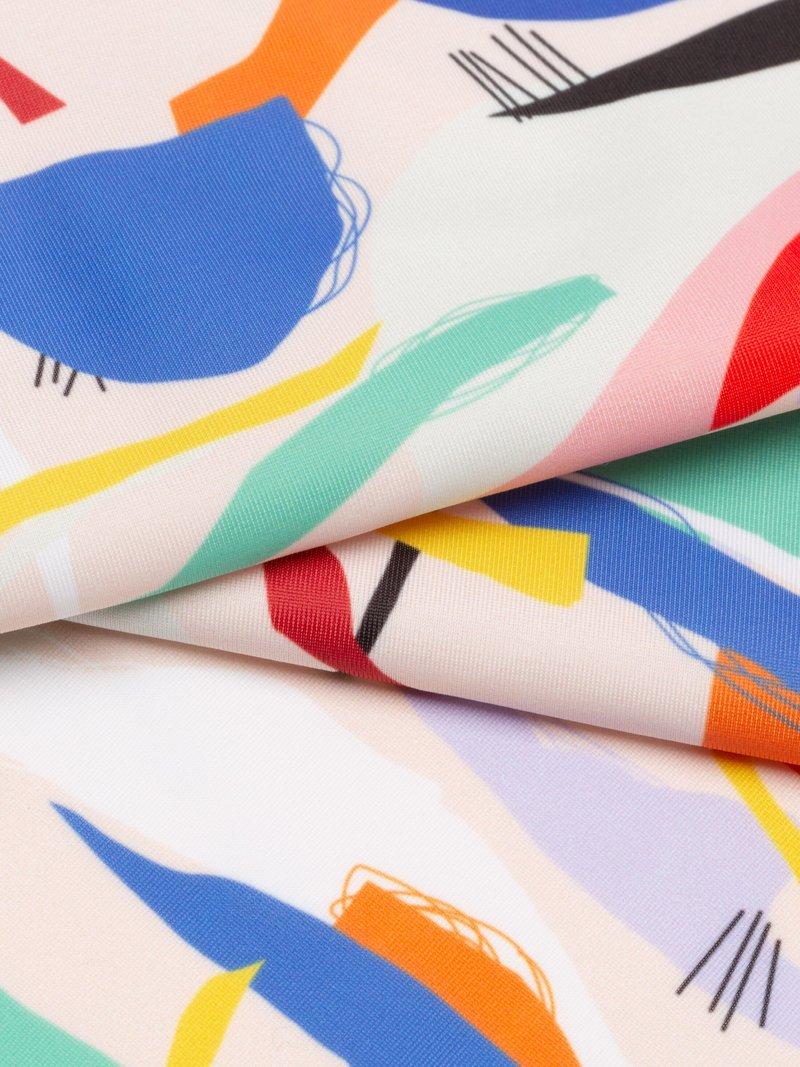custom Spandex Lycra fabric printing on matt lycra fabric
