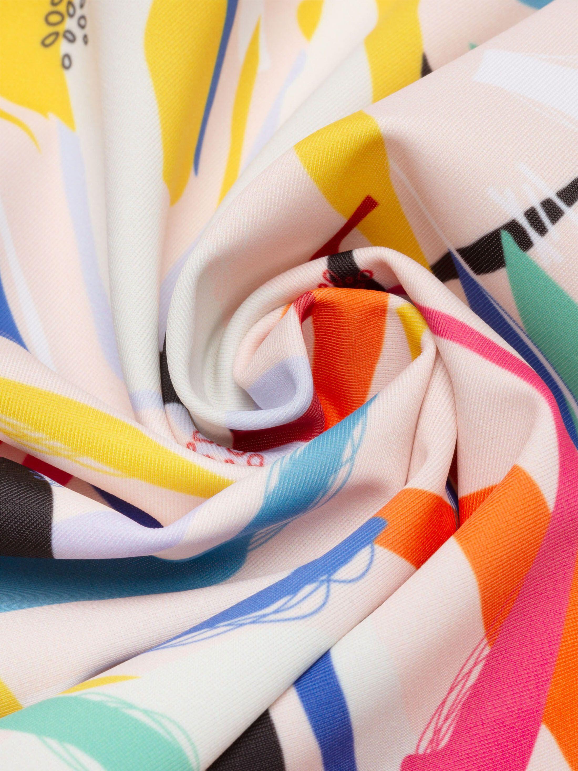 Printing on Slinky Matt Elastane spandex swirl