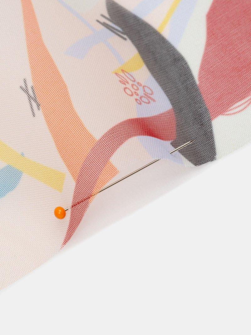 custom printed Volando Voile fabric