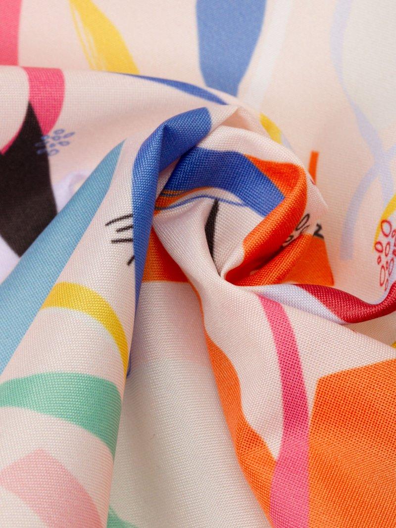 Printing on Ella Waterproof Fabric water droplets
