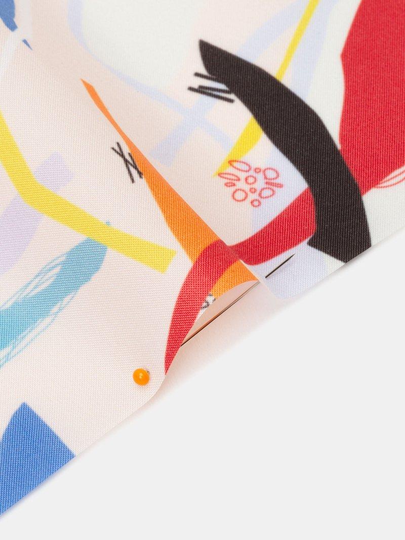 print on Ella Waterproof fabric pinned