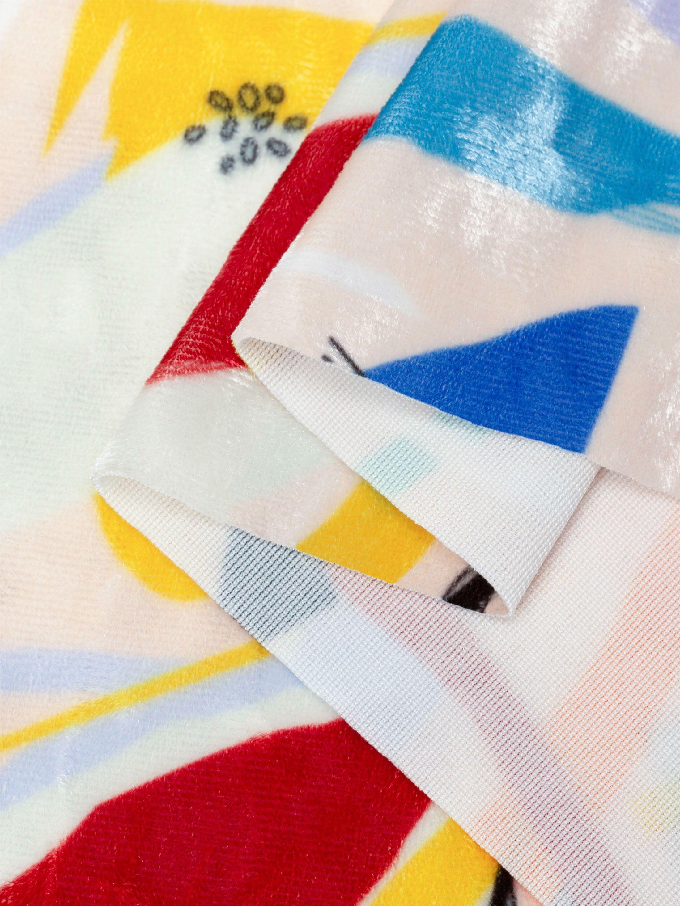 print Crushed Velours stof gevouwen textuur