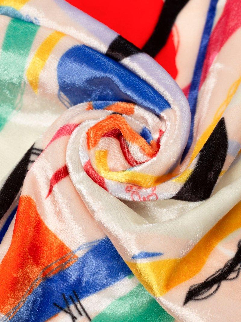 tissu panne de velours personnalisable