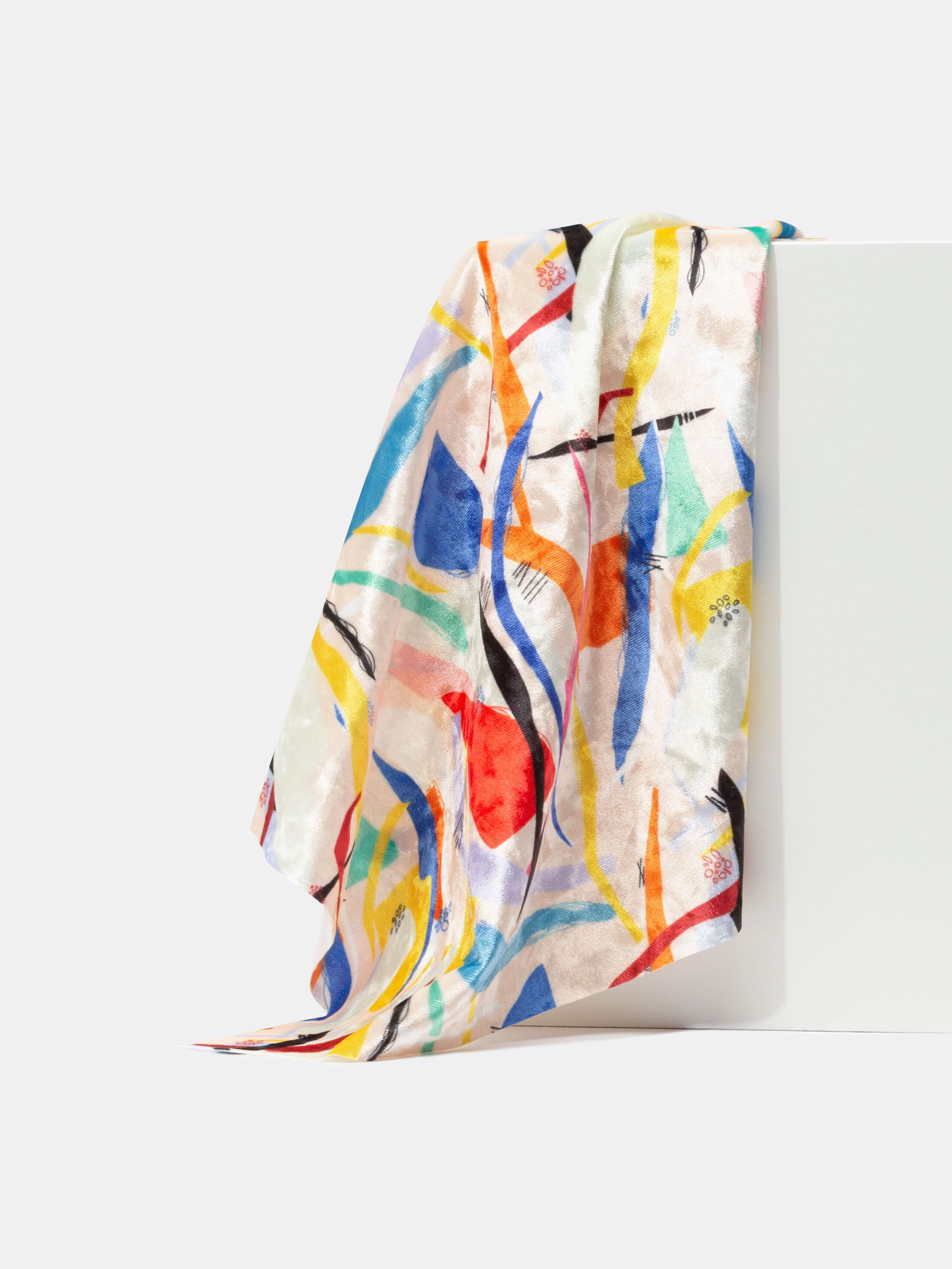 Crushed Velour digital print fabric pattern