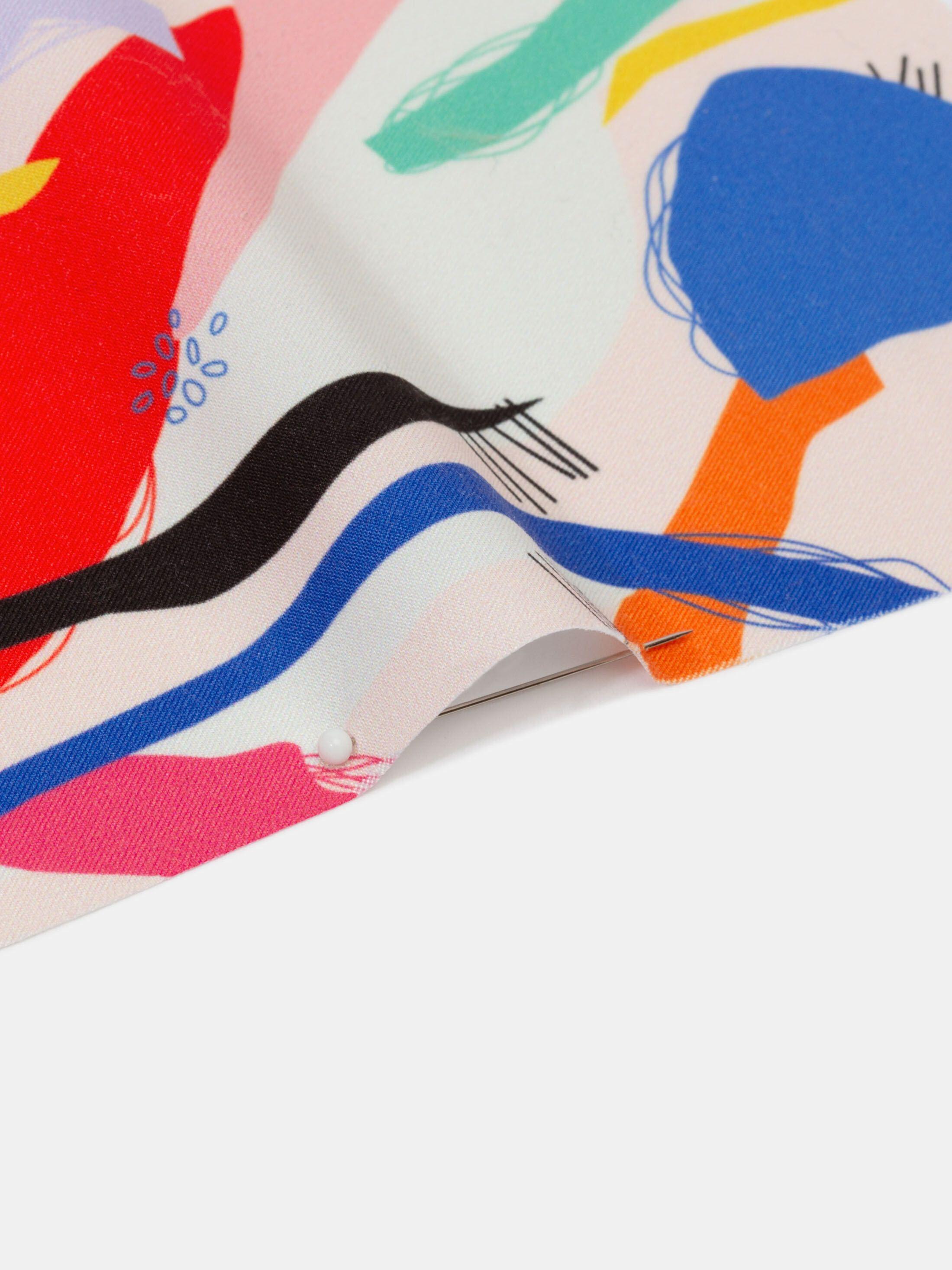 digital printing on Nautica fabric pinned