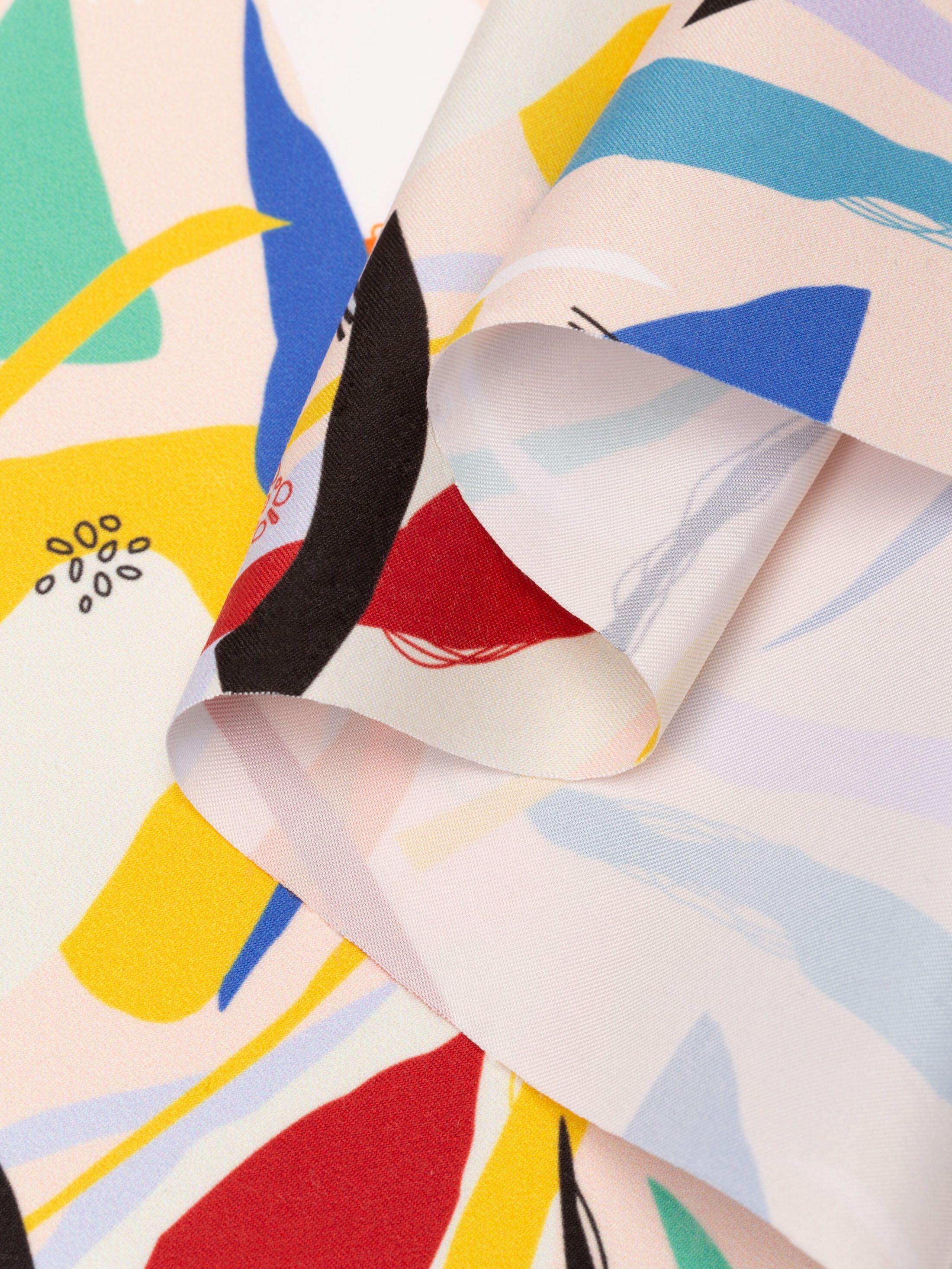 custom print Nautica fabric pleated fold