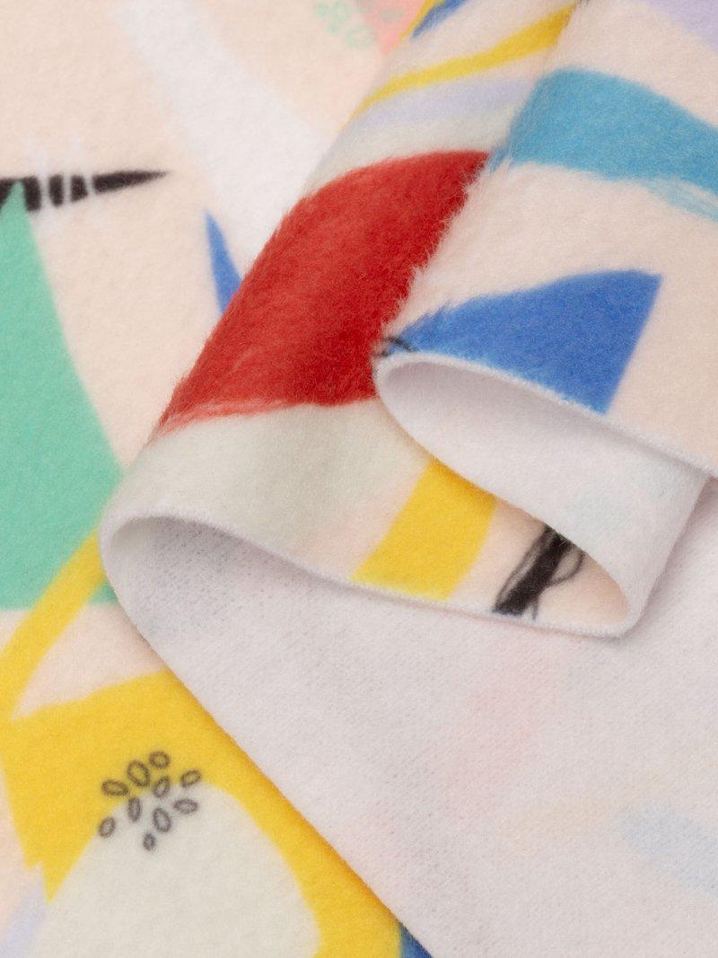 print on Polar Fleece fabric pattern folded