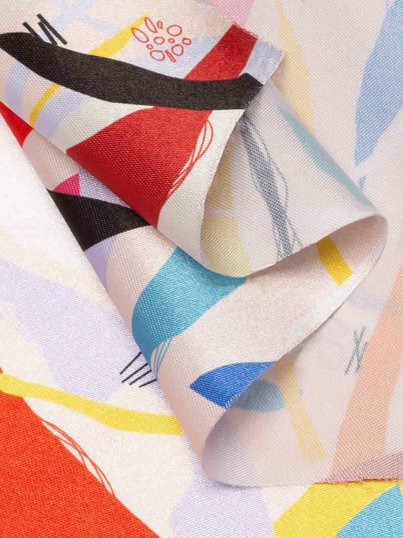 custom print Lucent Satin fabric