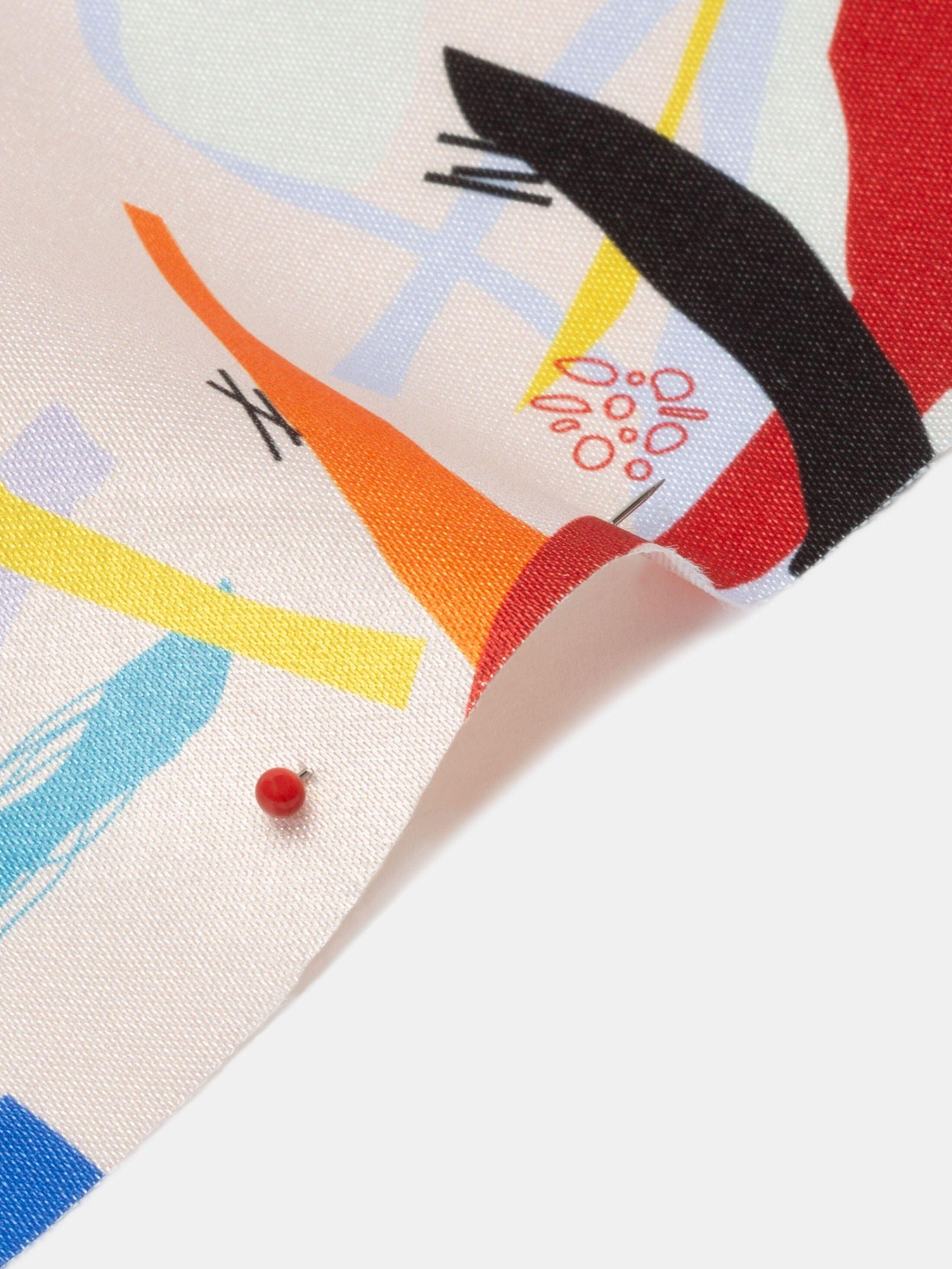 Glänzender satin bedruckt auf maß mit eigenem design