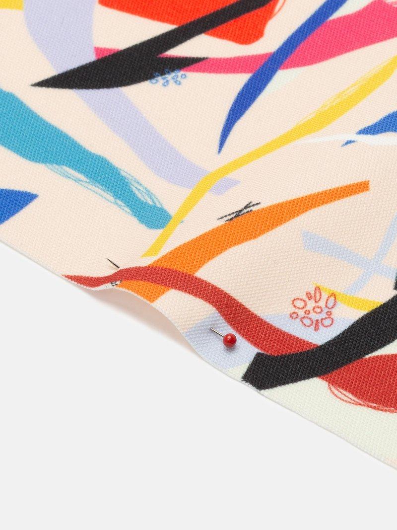 Gewobener canvas bedruckt mit deinem design muster