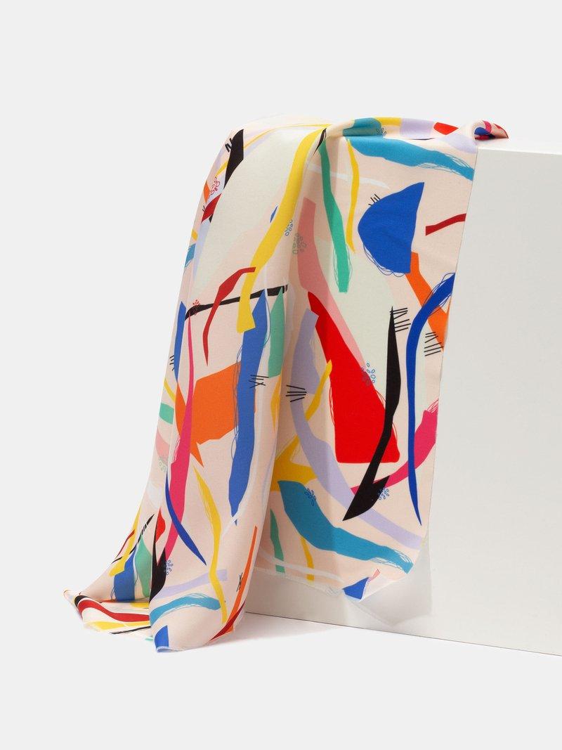 Tissu soie artificielle à imprimer