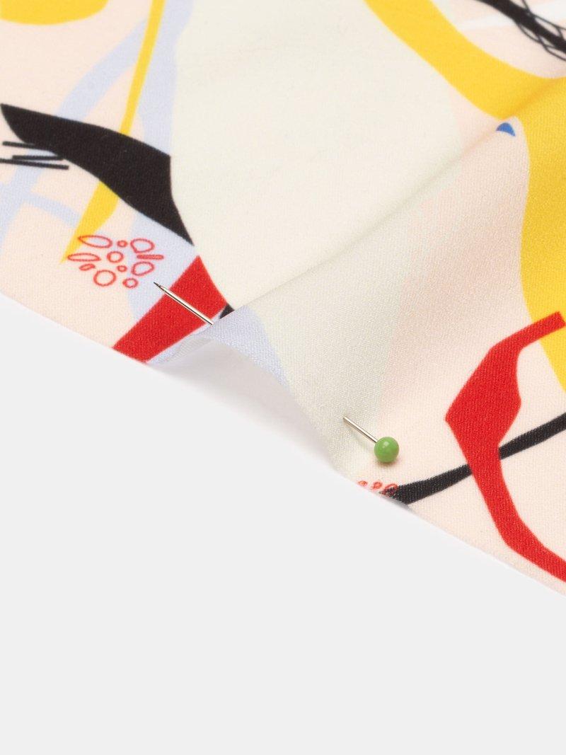 custom Silk Sensation fabric swatch printing pleated fold