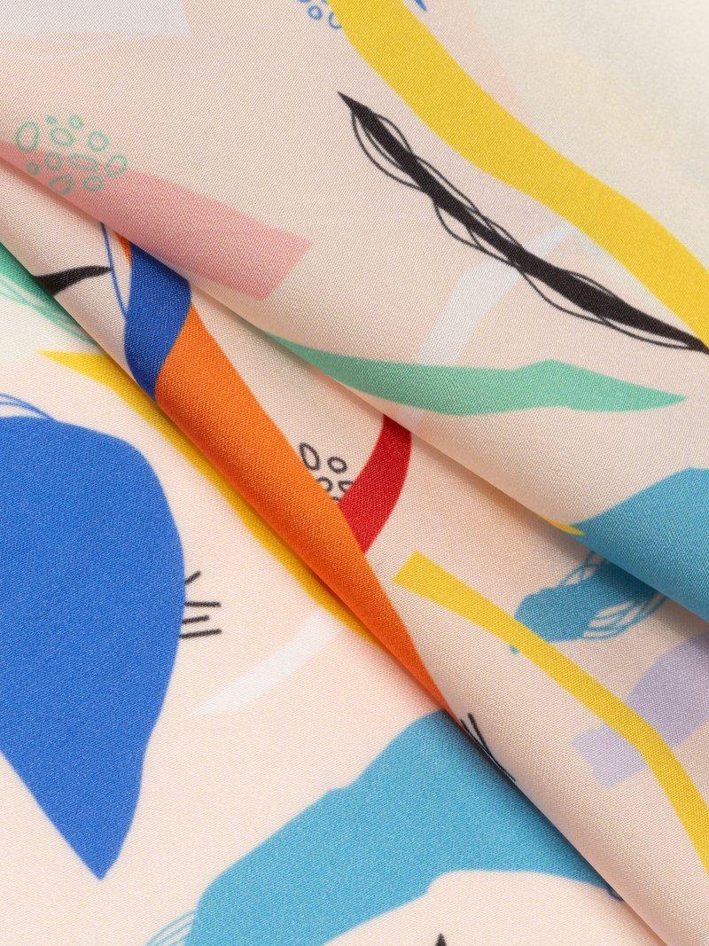 Tissu soie artificielle  digital print fabric
