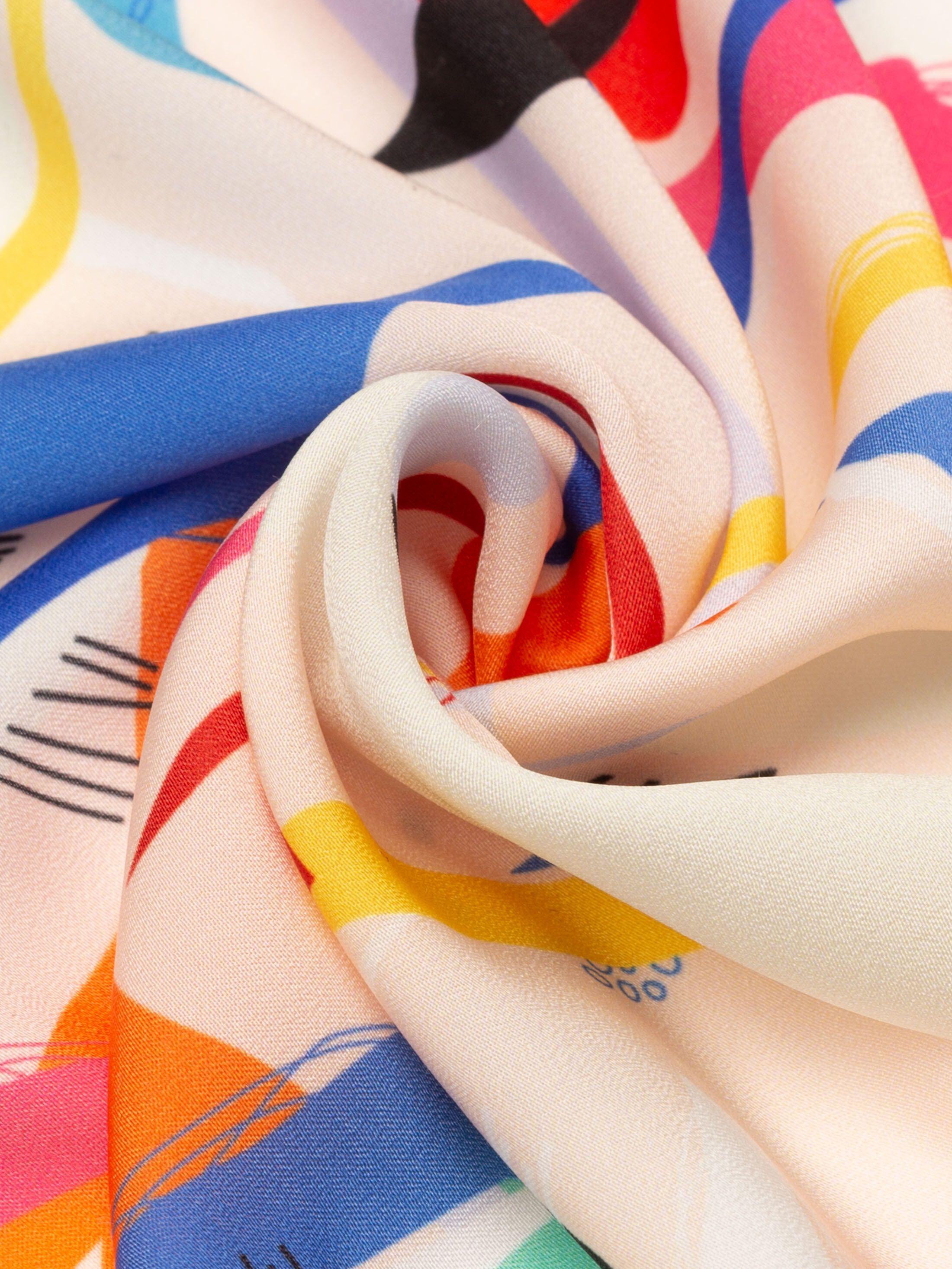 custom Silk Sensation fabric sheen small print