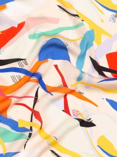 impresión en seda sintética