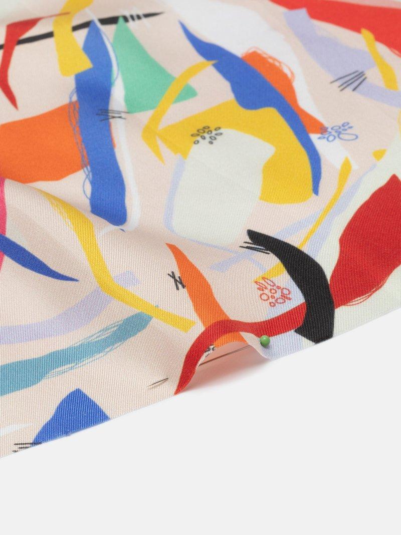 silk twill fabric UK made and printed