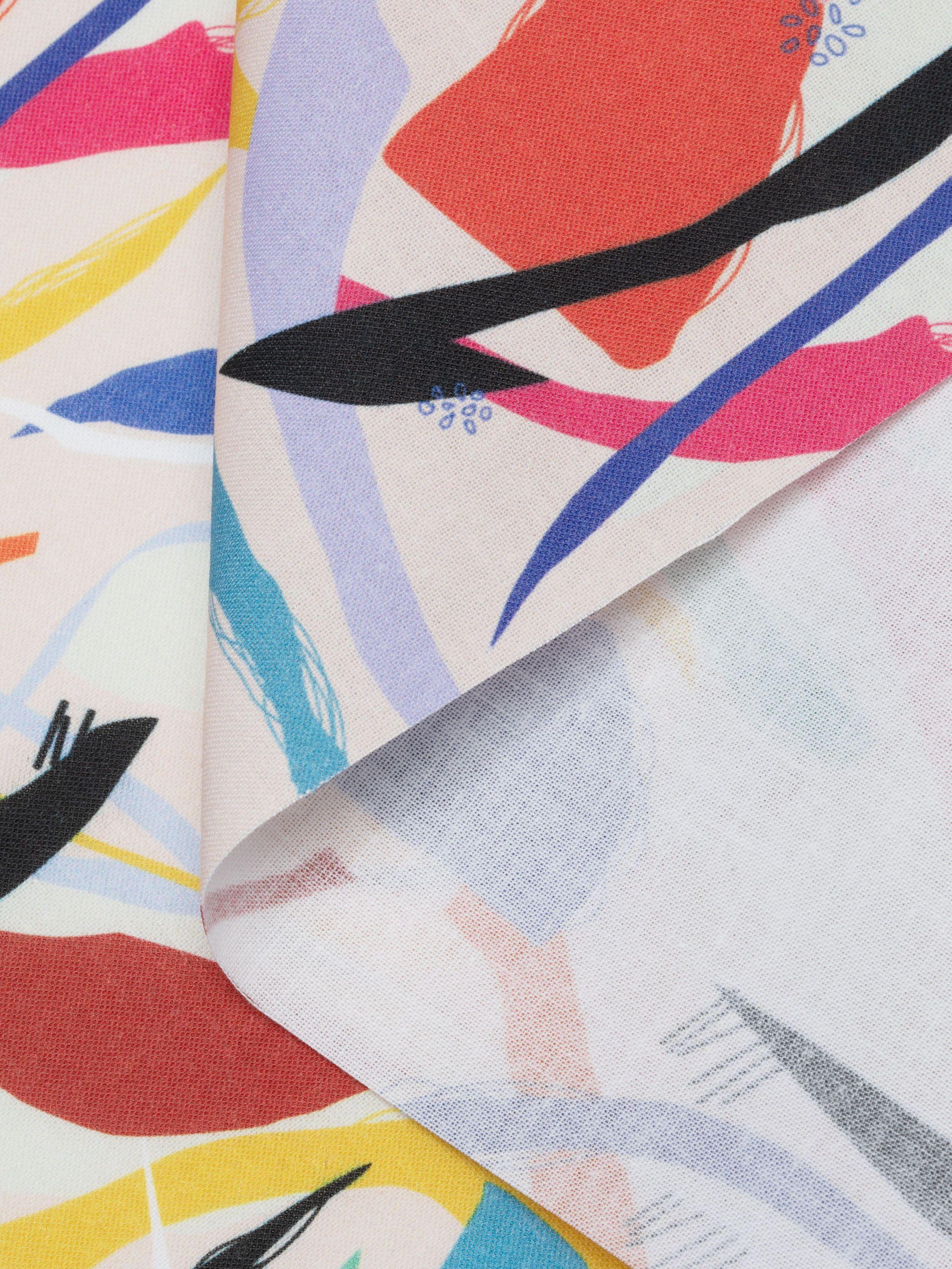 Folded Calico dress personalised printing
