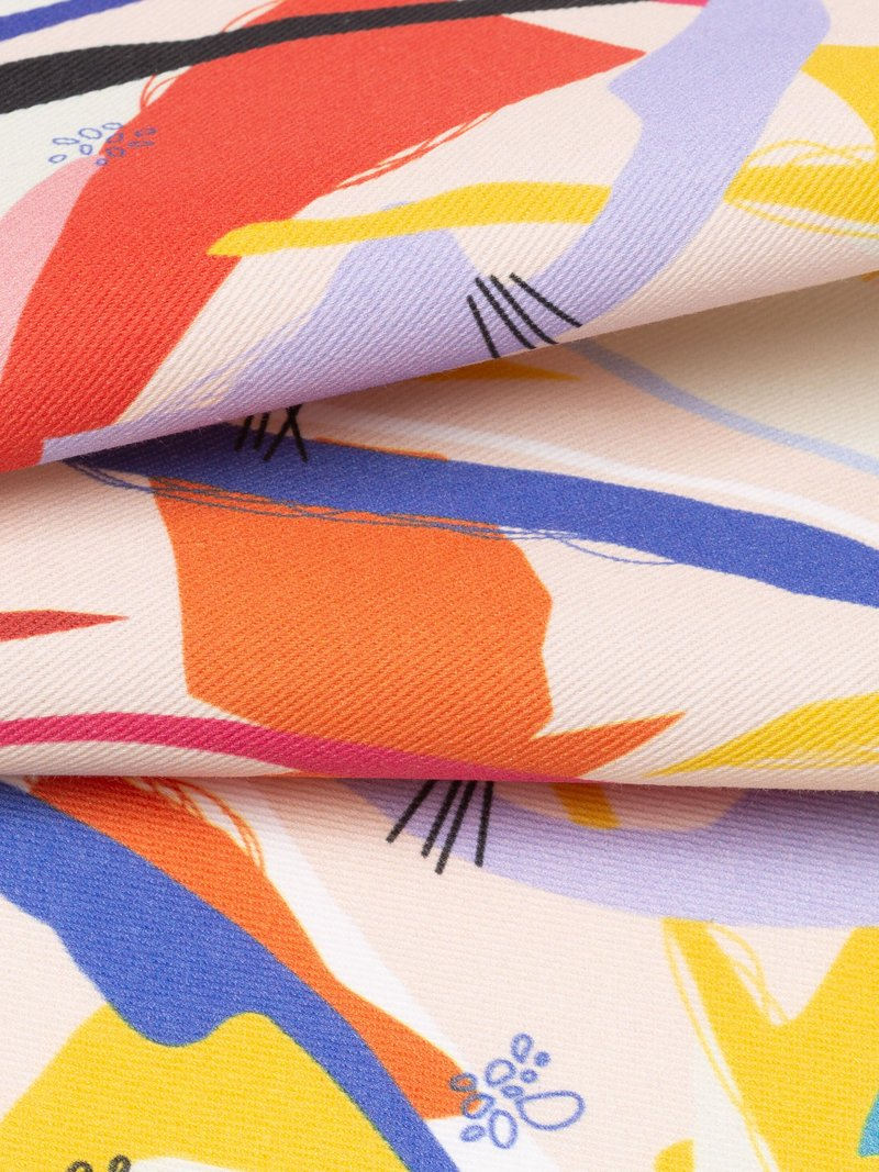 Custom Printed Cotton Twill Fabric