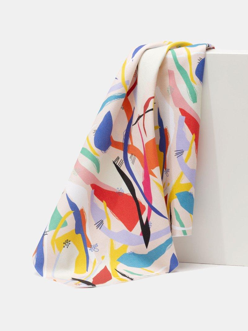 print cotton twill on demand close up