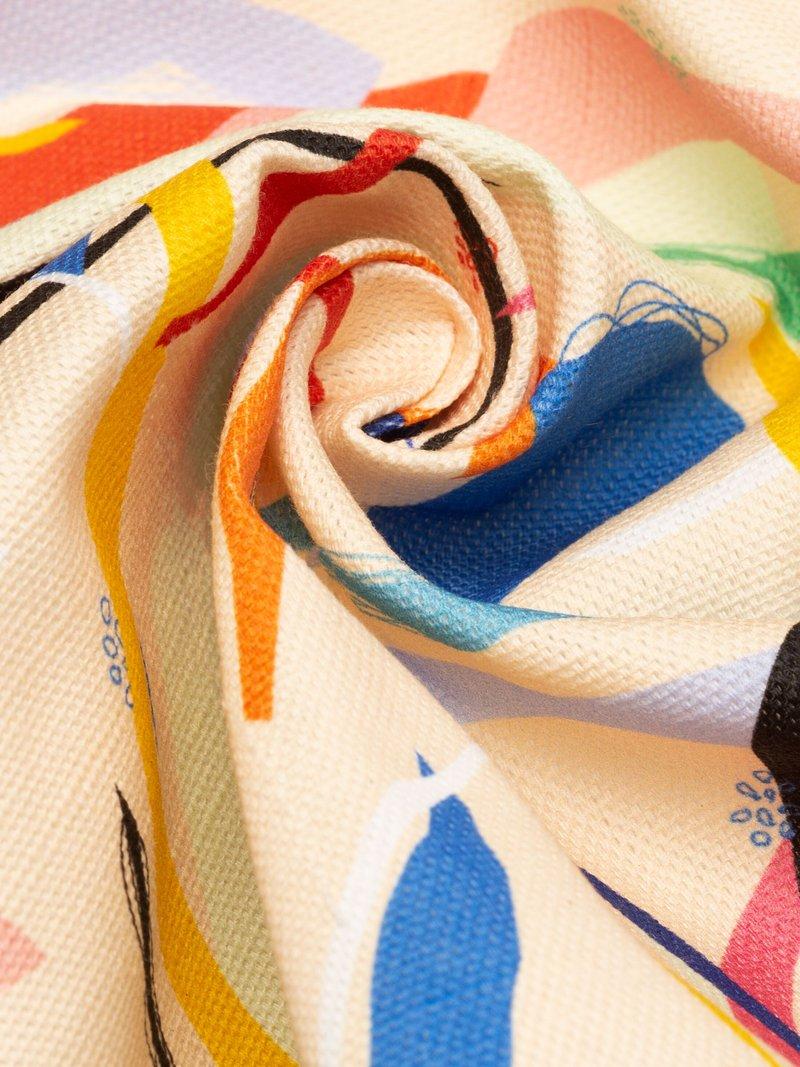 print Cotton Linen Blend fabric