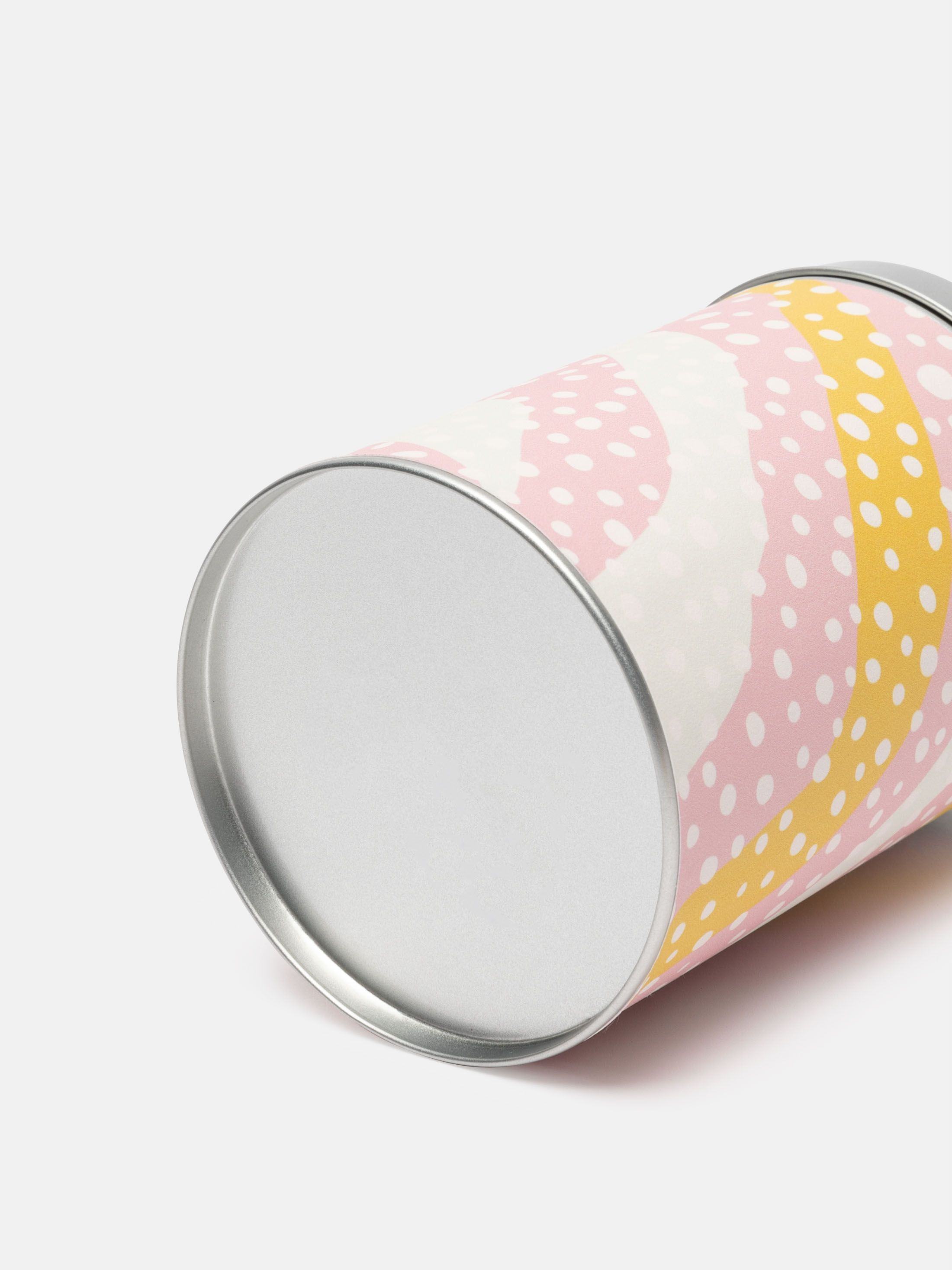 Barattolo in metallo cilindrico personalizzato