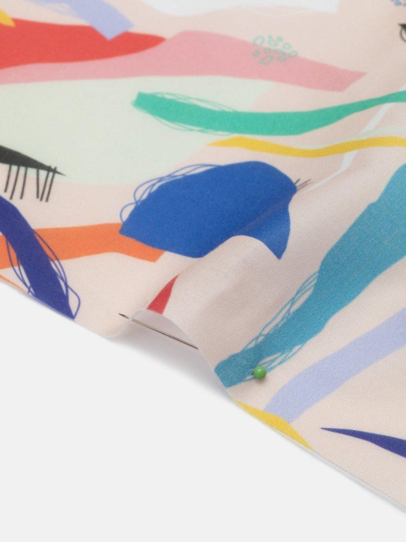 echte Baumwolle mit meinem design bedrucken lassen Rückseite nadel