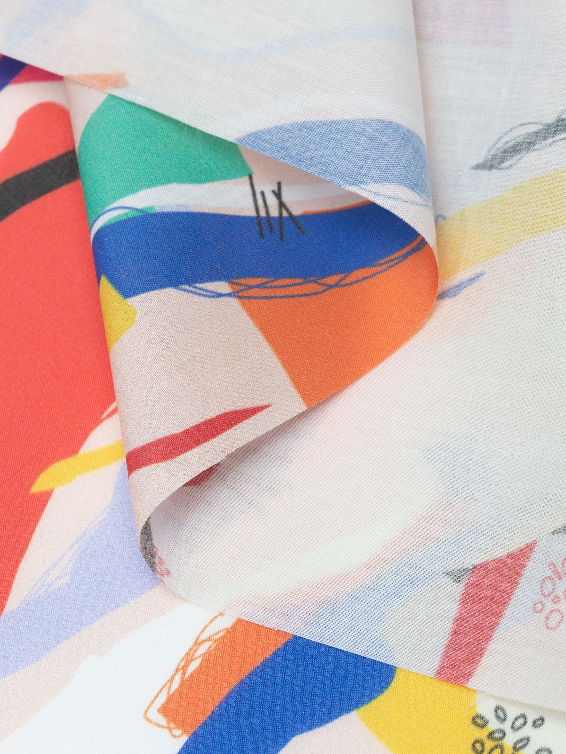 print on custom Pima cotton lawn fabric pattern fold crease