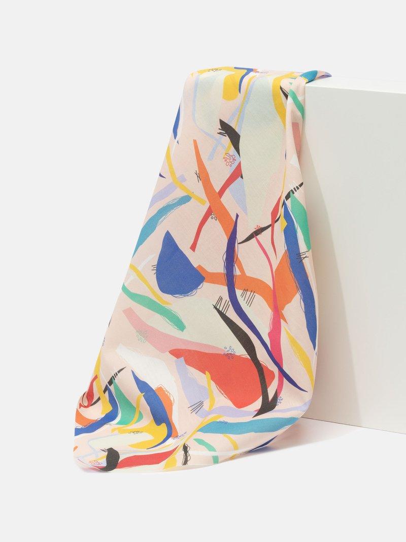print on Pima Lawn fabric pattern fold crease